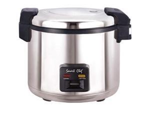 Welbon 33 Cups Stainless Steel Commercial Electronic Rice Cooker & Warmer, WRC-1078S-05