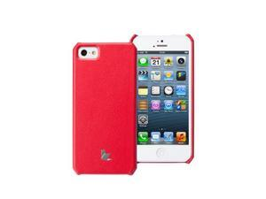 Jisoncase Classic Premium Leatherette Wallet Case for iPhone 5, JS-IP5-001-Red