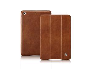 Jisoncase Vintage Genuine Leather Smart Cover Case for iPad mini with Retina Display