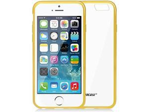 Jisoncase Yellow TPU Extremely Transparent Clear Back Case for Apple iPhone 6/6s JS-IP6-03P80