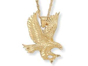 """PalmBeach Jewelry Men's Yellow Gold Tone Eagle Pendant Rope Chain Necklace 24"""""""