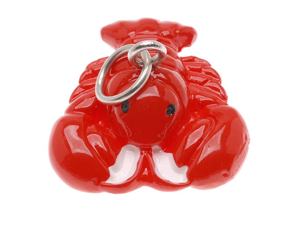 Hand Painted 3D Red Lobster Lightweight Jewelry Charm