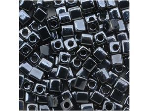 """Miyuki 4mm Cube Beads """"Metallic Gunmetal"""" #451 10 Gr"""