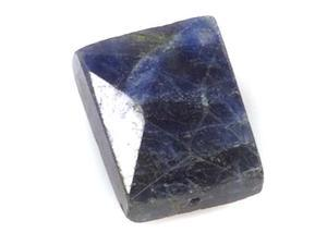 Blue Sodalite Faceted Rectangle Gem Beads 8-15mm /10