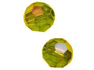 Swarovski Crystal, #5000 Round Beads 8mm, 8 Pieces, Olivine AB