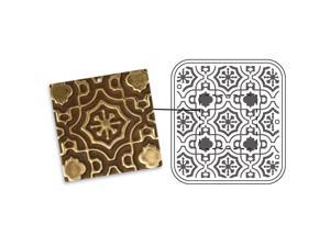 Vintaj DecoEmboss Die For Sizzix Bigkick Machine - Morrocan Tile