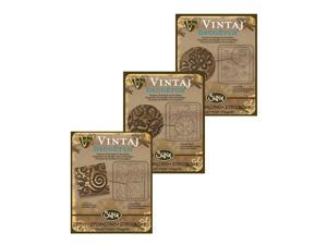 3 Pack Vintaj DecoEtch Die Set #1B For Sizzix Bigkick Machine (1 Set)