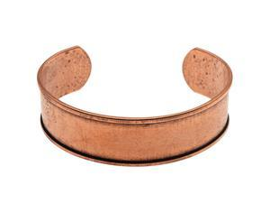 Nunn Design Antiqued Copper Plated Channel Cuff Bracelet - 2 1/2 Inch