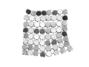 Artistic Wire, Aluminum Fabric 26x26mm - Silver Color (6 Pieces)