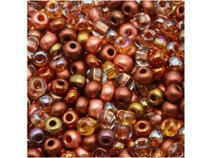 "Czech Seed Beads 8/0 ""Non Cents"" Mix Copper (1 Ounce)"