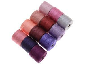 BeadSmith Super-Lon Cord - Spring Mix - Twelve 77 Yard Spools / Size 18 Cord