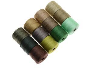 BeadSmith Super-Lon Cord - Summer Mix - Twelve 77 Yard Spools / Size 18 Cord