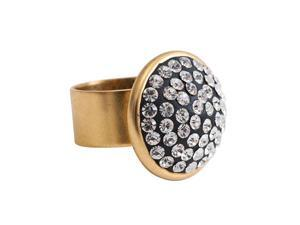 Nunn Design Jewelry Kit - Antiqued 22K Gold Plated Traditional Ring - 1 Kit