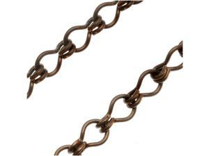 Vintaj Natural Brass Ladder Chain 4mm Bulk By The Foot