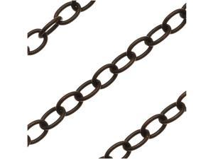 Vintaj Natural Brass 4x3mm Small Cable Chain - Sold By The Foot