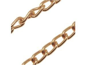 Warm Gold Color Aluminum Curb Chain 3mm x 6mm - Bulk By The Ft