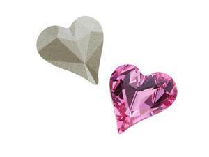 Swarovski Crystal, #4809 Sweet Heart Fancy Stone 13x12mm, 1 Piece, Rose F