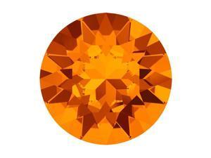 Swarovski Crystal, #1088 Xirius Round Stone Chatons ss24, 12 Pieces, Tangerine F