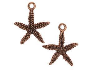 Nunn Design Charm, Starfish 16.5x19.5mm, 2 Pieces, Antiqued Copper