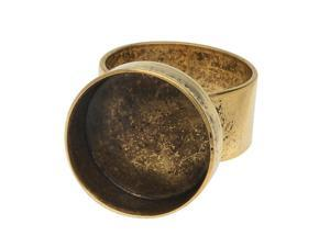Nunn Design Deep Bezel Ring, Circle 18mm, 1 Ring, Antiqued Gold
