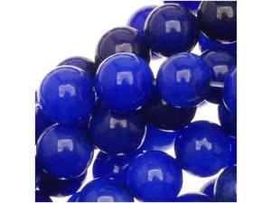 Lapis Blue Candy Jade 6mm Round Beads (15.5Inch Strand)