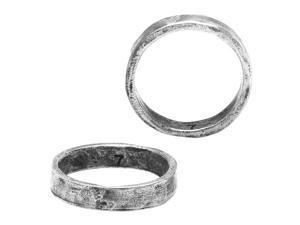 Nunn Design Rings, Hammered Ring Size 7, 1 Piece, Antiqued Silver