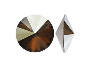 Swarovski Crystal, #1122 Rivoli Fancy Stones 12mm, 4 Pcs, Crystal Bronze Shade F