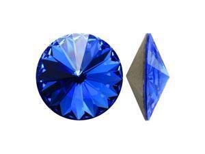 Swarovski Crystal, #1122 Rivoli Fancy Stones 12mm, 4 Pieces, Sapphire Sf