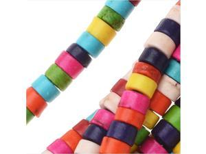 Dyed Magnesite Gemstone Beads, Cylinders 2.5x4mm, 15.5 Inch Strand, Multi Color