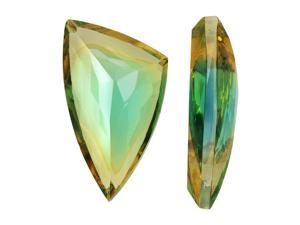 Vintage Swarovski Crystal Flatback Stone, Triangle 18x25mm, 1 Pc., Green/Yellow