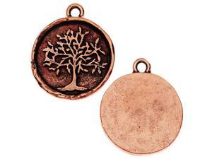 Nunn Design Charm, Tree of Life 20x23mm, 1 Piece, Antiqued Copper