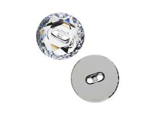 Swarovski Crystal, #3014 Faceted Round Sew-On Stone Buttons 16mm, 1 Pc, Crystal F