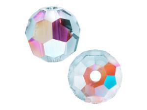 Swarovski Crystal, #5000 Round Beads 6mm, 10 Pieces, Light Azore AB