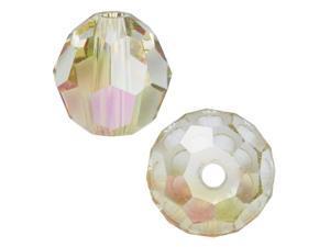Swarovski Crystal, #5000 Round Beads 4mm, 12 Pieces, Crystal Luminous Green