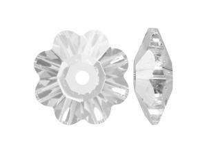 Swarovski Crystal, #3700 Flower Margarita Beads 8mm, 12 Pieces, Crystal