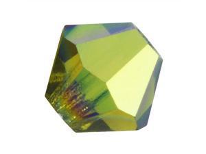 Preciosa Czech Crystal Bicone Beads 4mm Olivine AB /50