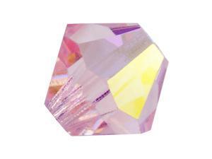 Czech Crystal Bicone Beads 6mm 'Light Rose AB' (20)