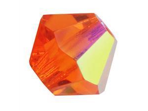 Preciosa Czech Crystal Bicone Beads 4mm 'Sun AB' (50)