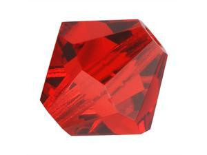 Preciosa Czech Crystal Bicone Beads 8mm Lt Siam Red (8)