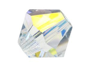 Preciosa Czech Bicone Beads 10mm Clear Crystal AB X6