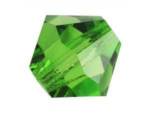 Czech Crystal Bicone Beads 8mm 'Peridot' Green (8)