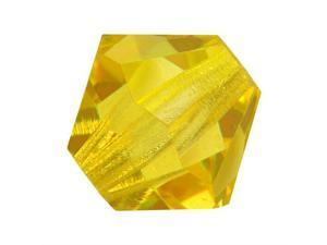 Preciosa Czech Crystal Bicone Beads 4mm 'Citrine' (50)