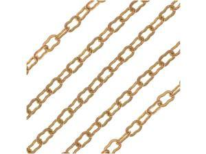 Vintaj Vogue Bulk Chain, Krinkle Links 3.5x2mm, Sold By The Foot, Raw Brass
