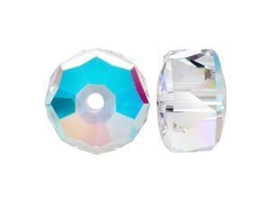 Swarovski Crystal, #5045 Rondelle Beads 6mm, 6 Pieces, Crystal AB