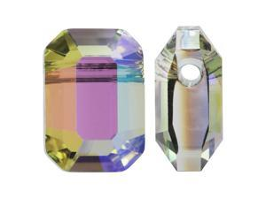 Swarovski Crystal, #5514 Pendulum Beads 10x7mm, 2 Pc, Crystal Paradise Shine