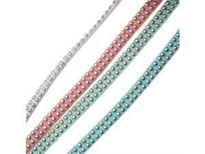 BeadSmith Studded Faux Suede, Jewelry Cord Assortment 5mm Wide, 8 Meters Total, Lights Mix
