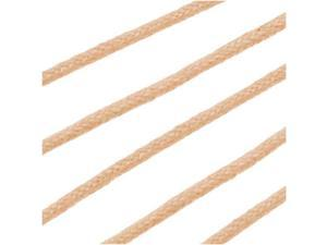 Waxed Cotton Cord 1mm Round - Natural (5 Meters/16.5 Feet)