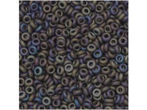 Toho Demi Round Seed Beads, Thin 11/0 (2.2mm) Size, 7.8 Grams, #615 Matte Iris Purple