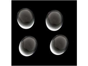 Clear Czech Glass Oval Cabochons 13mm X 18mm/ 4 Beads