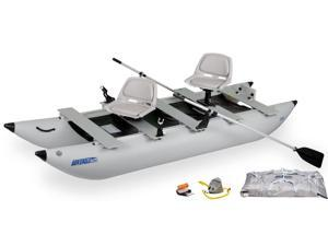 Sea Eagle Classic 375 Foldcat Inflatable Pontoon Boat Trade Deluxe Package 375FCCK Deluxe